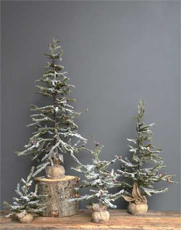 Burlap Wrapped Faux Fir Tree