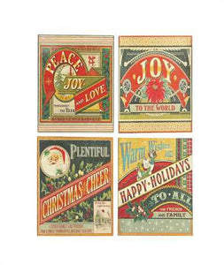 Tin X-mas Wall Signs
