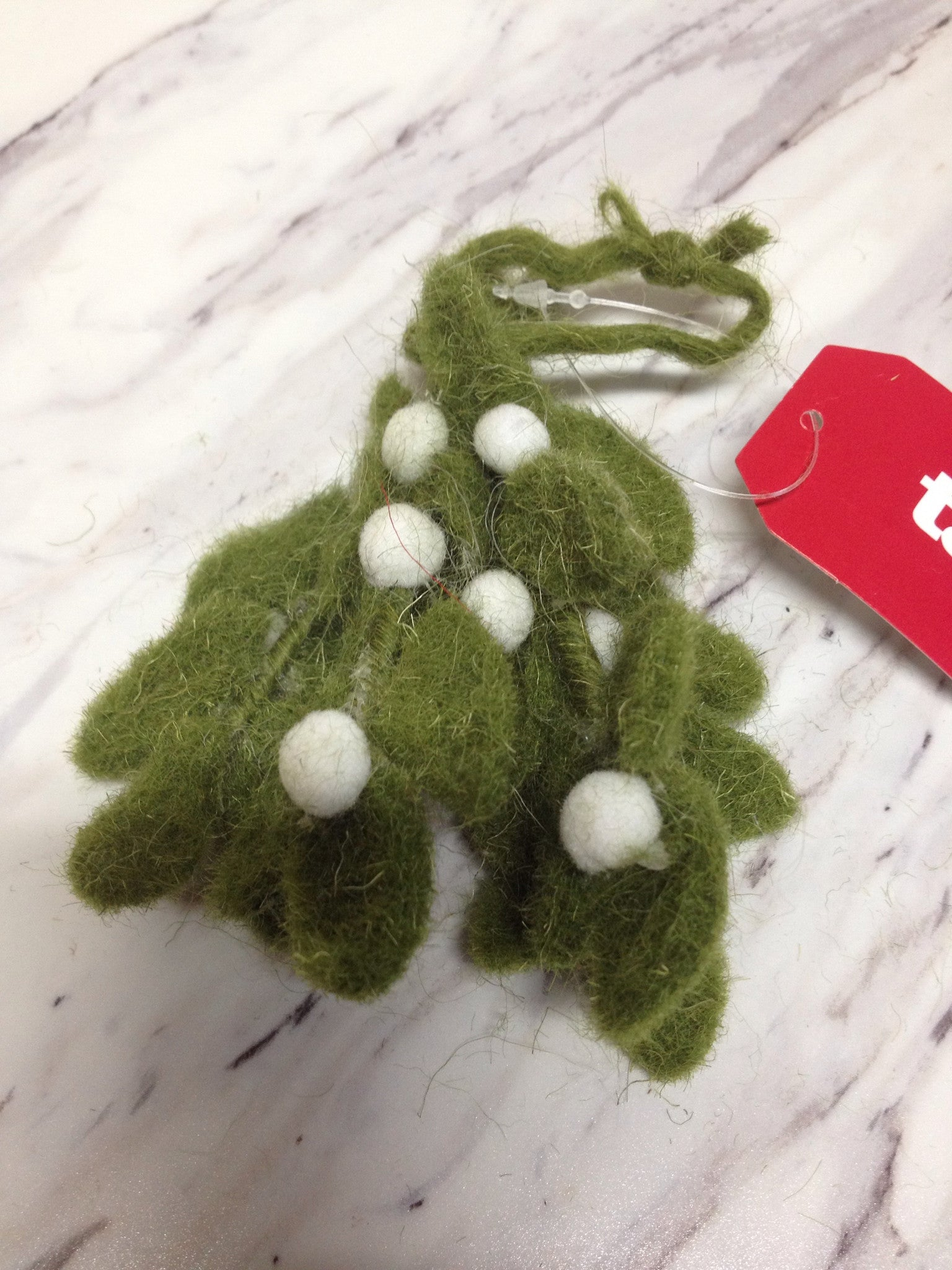 Mistletoe Felt Ornament