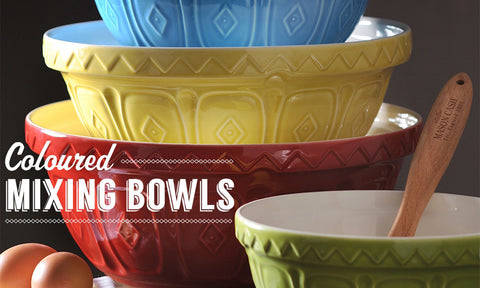 Mason Cash Mixing Bowls, bright colors