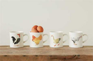 Mugs, Barnyard Birds