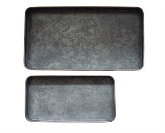 Box Trays, galvanized tin