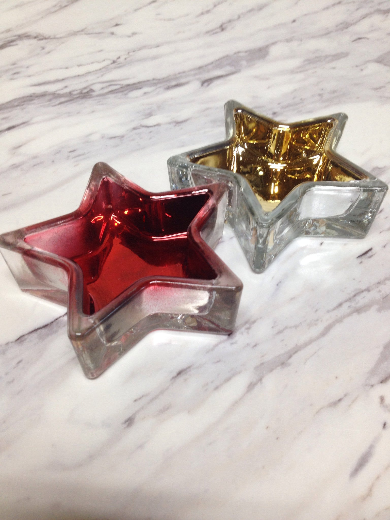 Star Glass Votive Holders