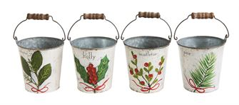 Christmas Tin Buckets