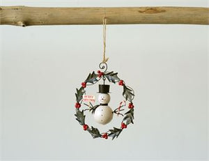 Snowman Wreath Ornament