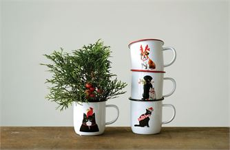 Cat & Dog Tin Mugs