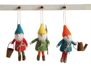 Wool Gnome ornament