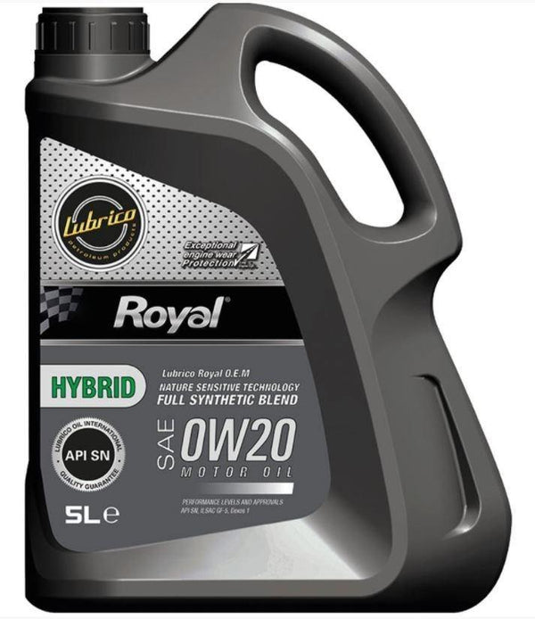 Lubrico Royal 0W-20 Hybrid Fully Synthetic - 5L