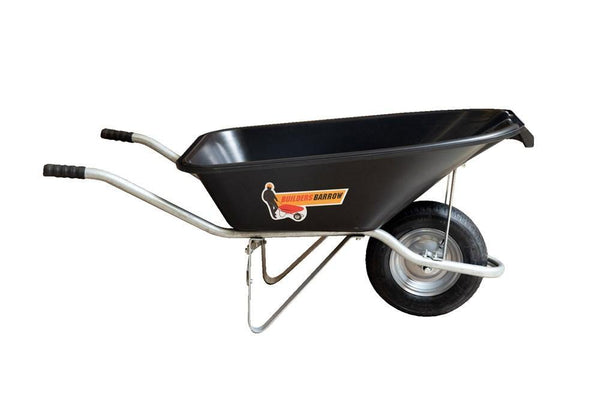 Builders Barrow Plastic Tray Black 72L