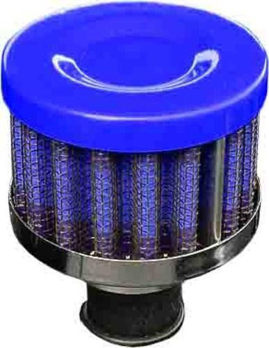 Performance Breather Oil Filter Blue/Chrome 12mm