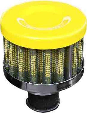 Performance Breather Oil Filter Yellow 12mm