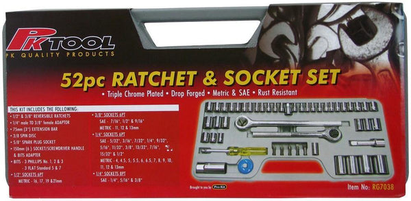 Multi-Drive Metric and SAE Socket 52 Pieces Set