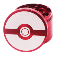 "Laser Engraved Herb Grinder - 2.2"" Inch 4 Piece Aluminum Crusher - Red"