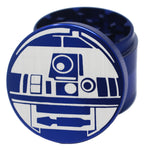 "Laser Engraved Herb Grinder - 2.2"" Inch 4 Piece Aluminum Crusher - Blue"