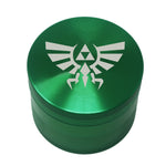 "Laser Engraved Herb Grinder - 2.2"" Inch 4 Piece Aluminum Crusher - Green"