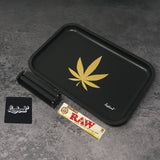 "Full Size Rolling Tray Bundle – 12"" x 8"" Tray – Black"