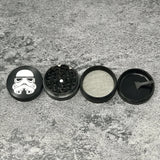 "Laser Engraved Herb Grinder - 2.2"" Inch 4 Piece Aluminum Crusher - Space Black"