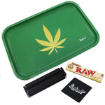 "Full Size Rolling Tray Bundle – 12"" x 8"" Tray – Green"