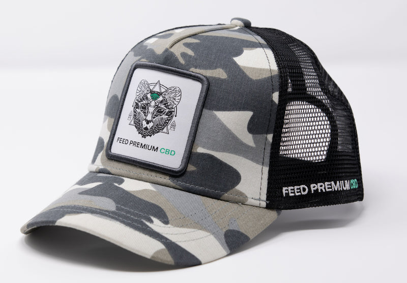 FEED CBD Camo Trucker Hat
