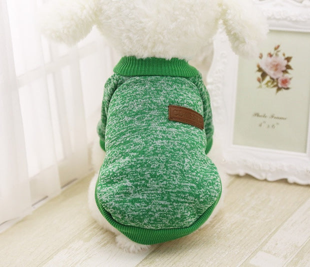 Green Soft dog sweater