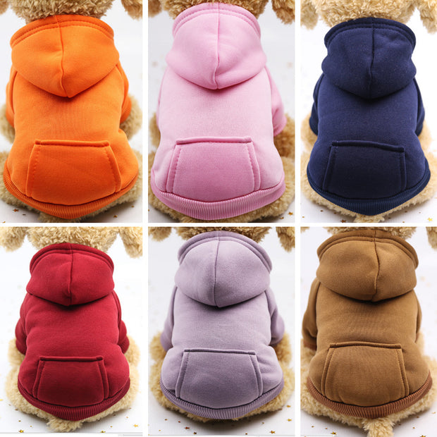 Warm sweater dog hoodies collection