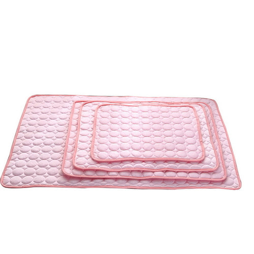 Picture of the pink cooling dog cushion