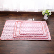 Pink pet cushion cooling bed