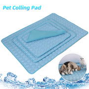 Blue pet cushion cooling bed