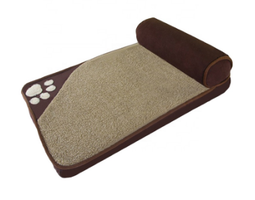 Maroon Oxford Cloth Rectangle dog Bed