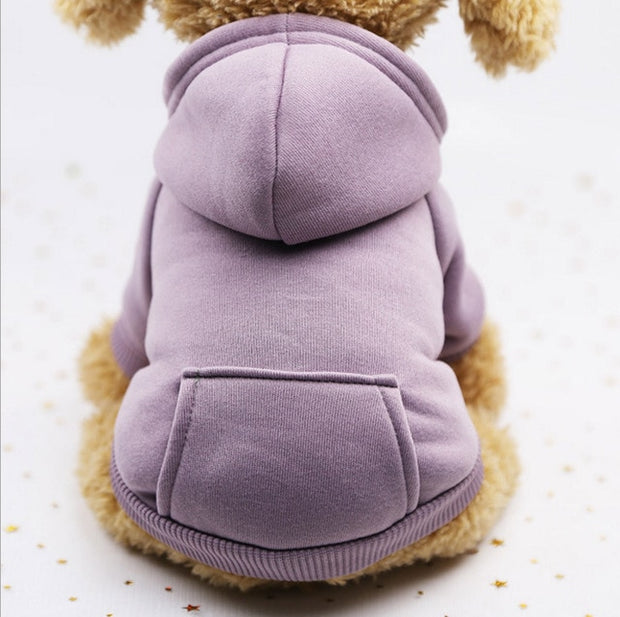 Purple  Warm sweater dog hoodie