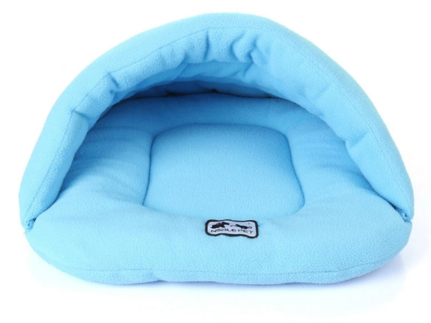 Blue Winter Warm Slippers Style Dog Bed