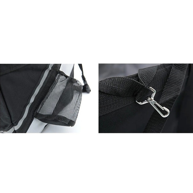 Black Portable dog bicycle carrier bag