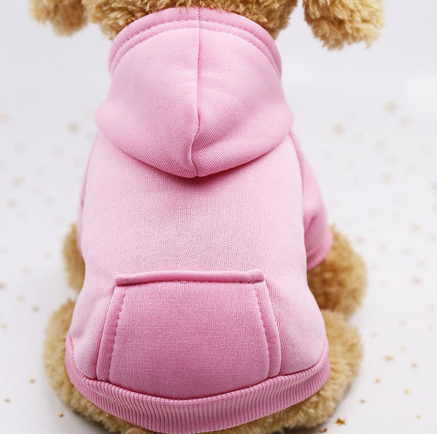 Pink  Warm sweater dog hoodie
