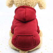 Red  Warm sweater dog hoodie