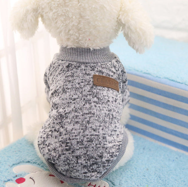 Gray Soft dog sweater