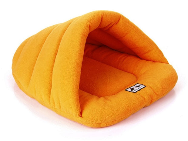 Yellow Winter Warm Slippers Style Dog Bed
