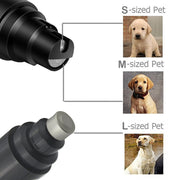 Rechargeable Dog Nail Grinders USB Charging with different sizes for dogs