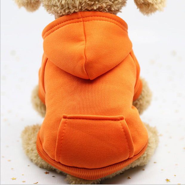 Orange  Warm sweater dog hoodie