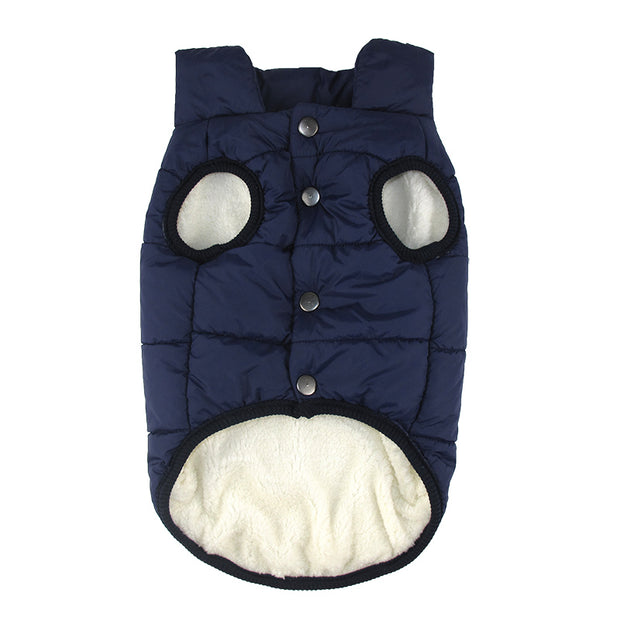 Dark blue Bubble style dog coat