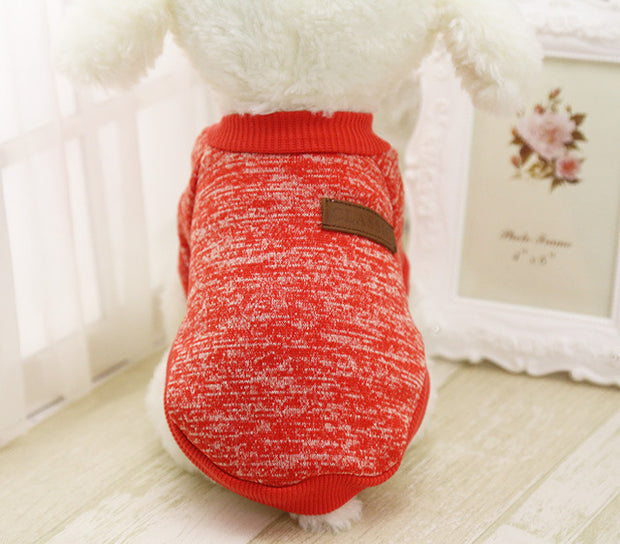 Red Soft dog sweater