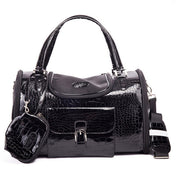 Black  dog carrier with purse