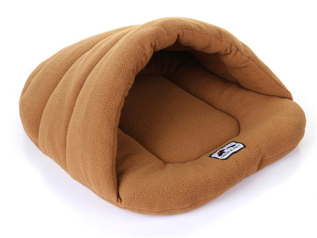 Brown Winter Warm Slippers Style Dog Bed