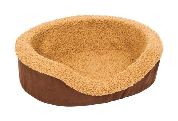 Aspen Pet Faux Micro Suede Dog Bed