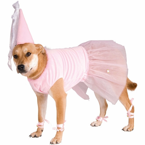 Dog wearing big dog princess costume