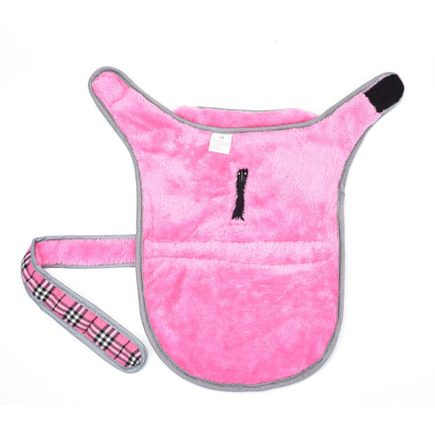 Inside of pink jacket vest