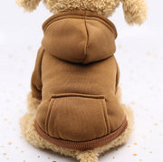 Brown  Warm sweater dog hoodie