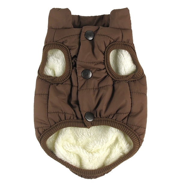 Brown Bubble style dog coat