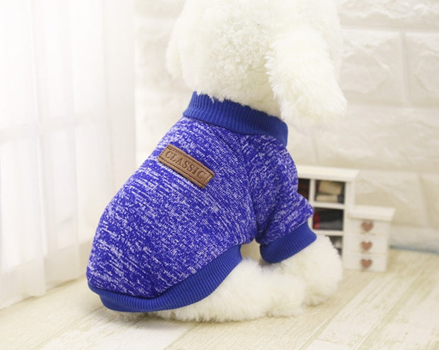 Deep blue Soft dog sweater