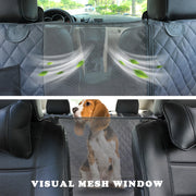 Visual mesh window so dog can see you in the front