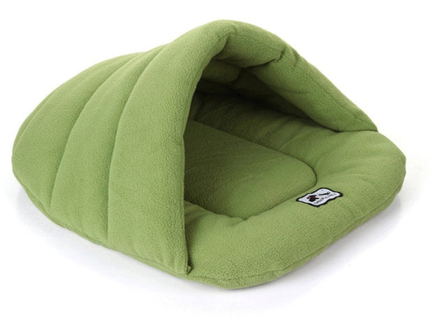 Green Winter Warm Slippers Style Dog Bed